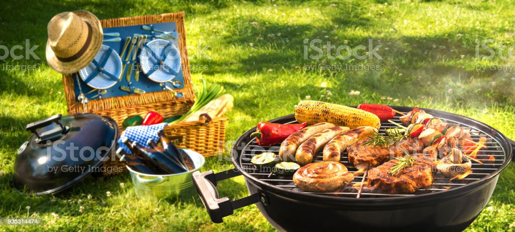 Barbecue picnic stock photo