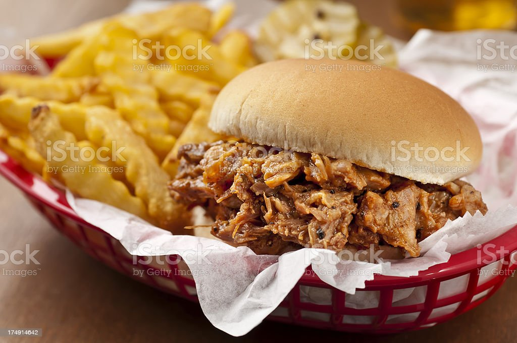 Barbecue Pork Basket stock photo