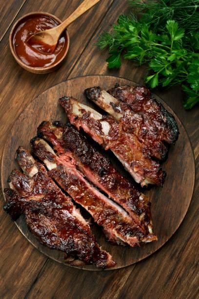 Barbecue pork ribs stock photo