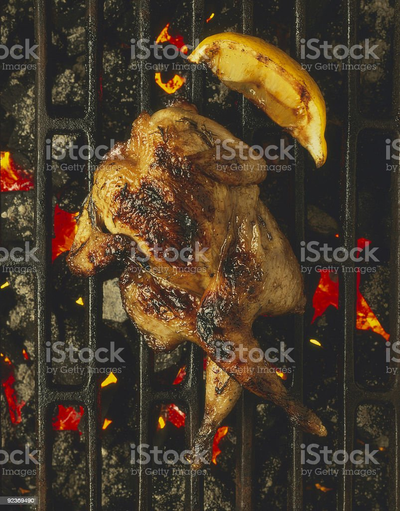 Barbecue quail royalty-free stock photo