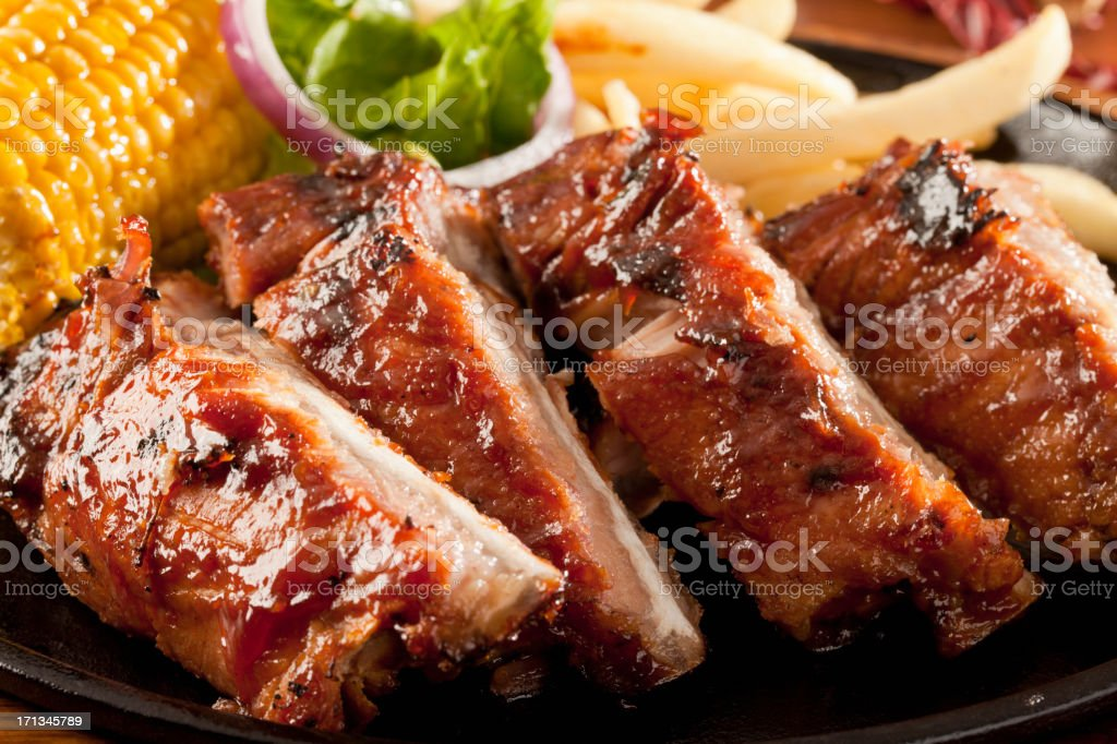Costillas de barbacoa - foto de stock
