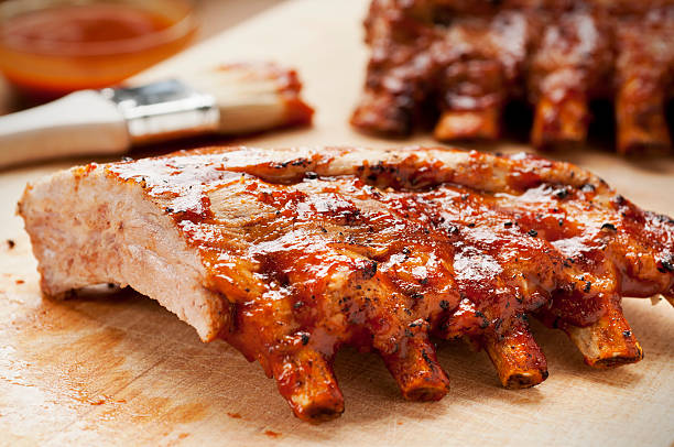 barbecue ribs - ribs stock photos and pictures