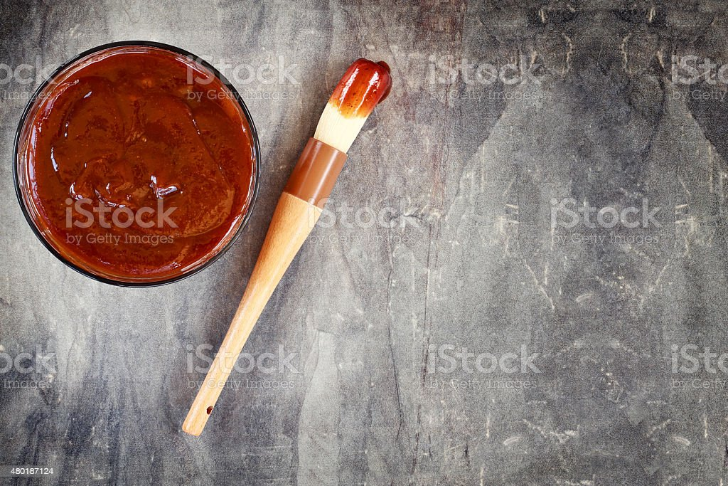 Barbecue Sauce and Brush stock photo