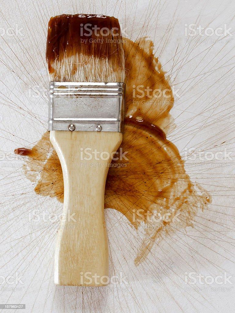 barbecue sauce basting brush stock photo