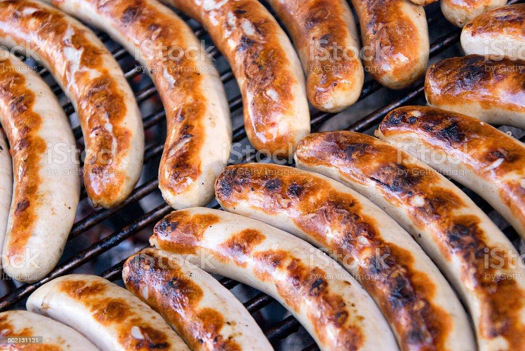 barbecue sausages bildbanksfoto