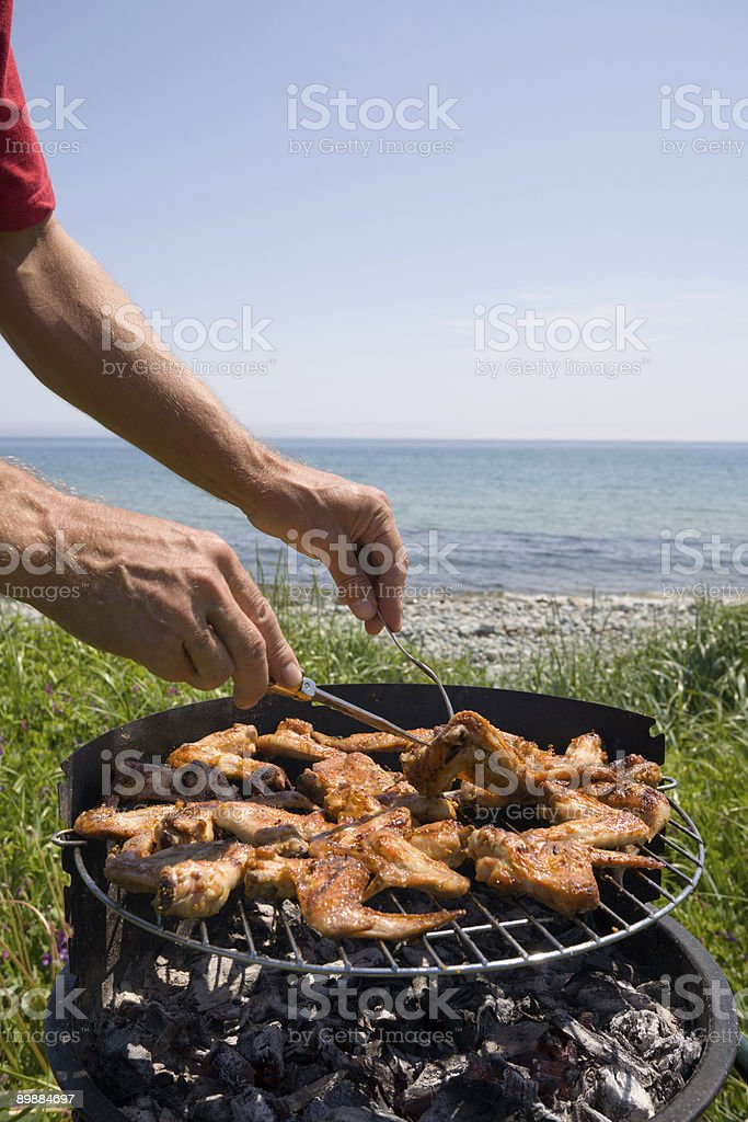 barbecue & sea royalty-free stock photo