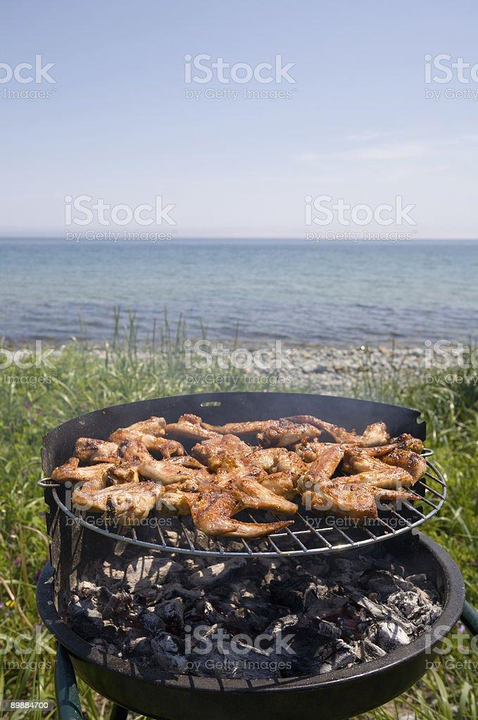 Barbacoa & al mar foto de stock libre de derechos