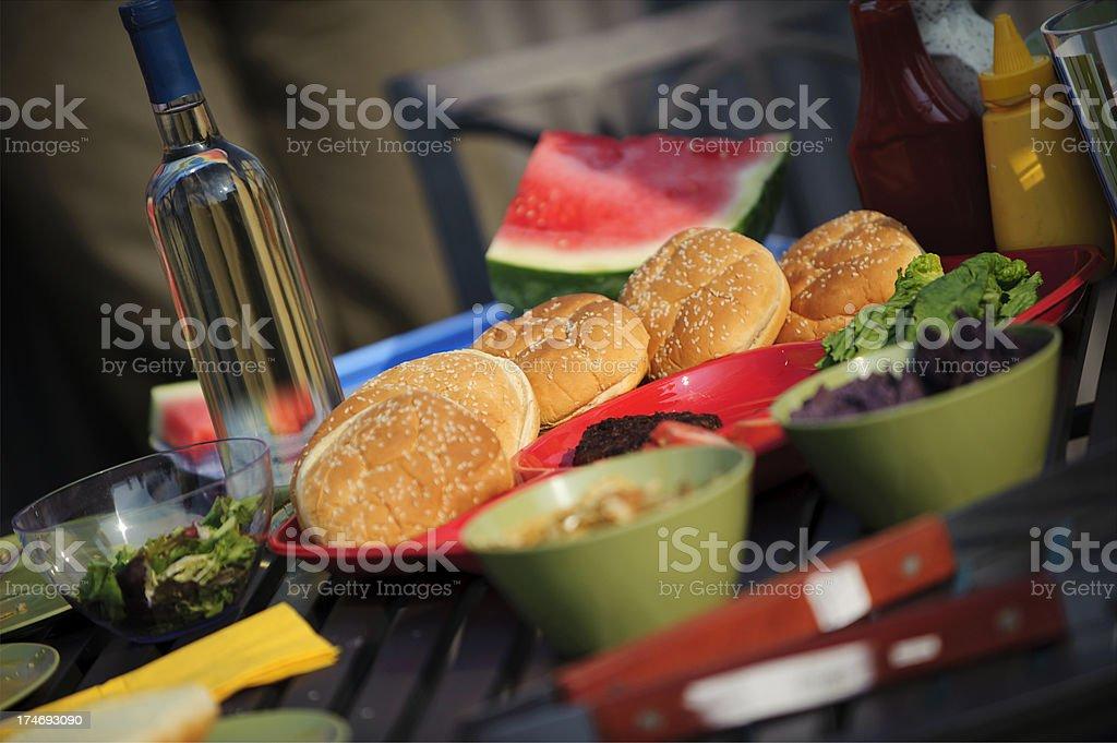 Barbecue Setting stock photo