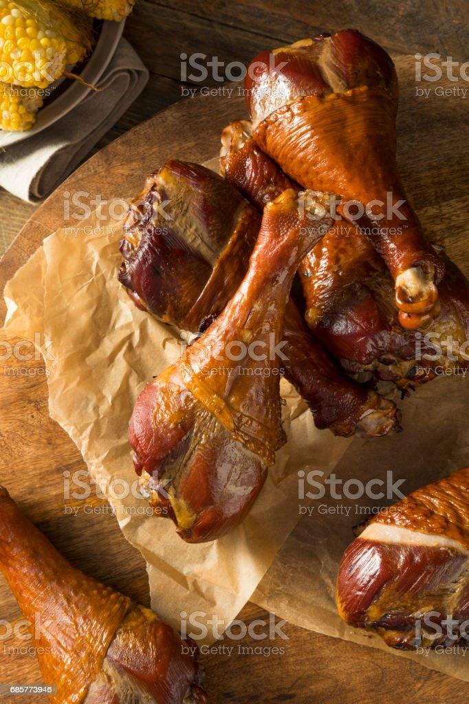 Barbecue Smoked Turkey Leg stock photo