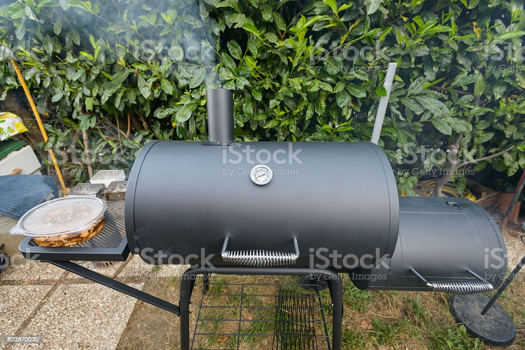 barbecue smoker kettke stock photo