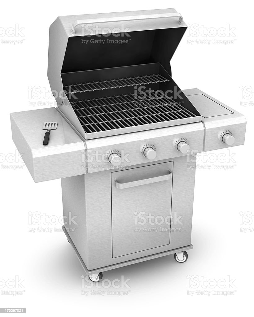 Barbecue Stainless steel royalty-free stock photo