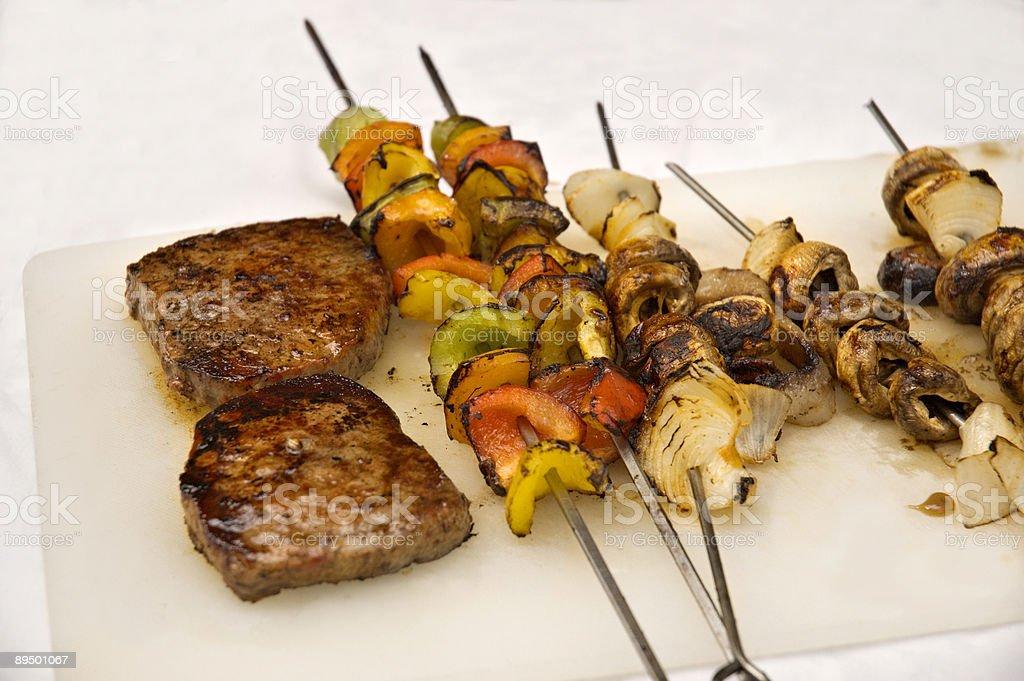 Barbecue steaks 2 royaltyfri bildbanksbilder