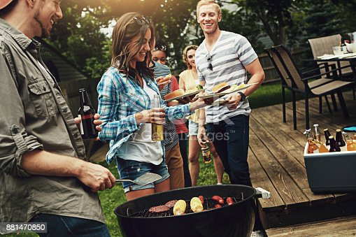 istock Barbecue time is bonding time 881470850