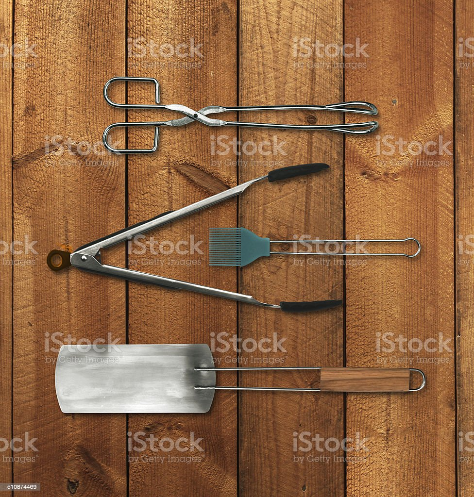 Barbecue tools set stock photo