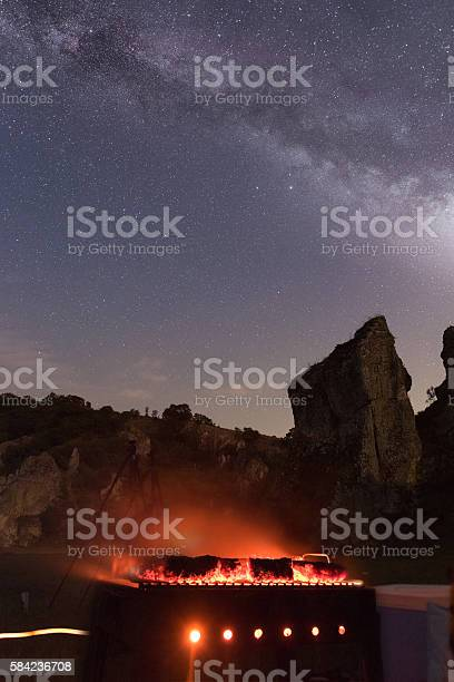 Photo of Barbecue under the night sky