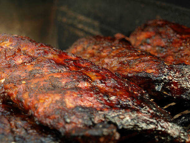 Barbecued Baby Back Ribs stock photo