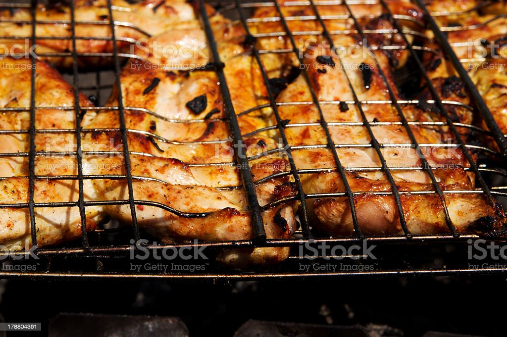 Barbecued chicken royalty-free stock photo