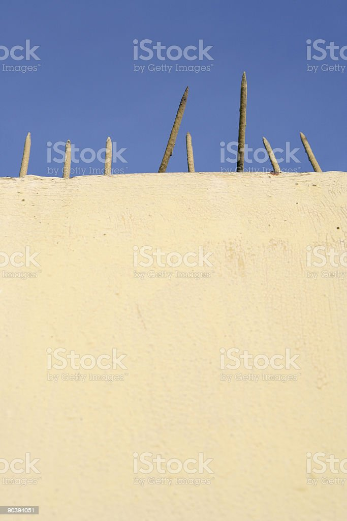 Barbed wall royalty-free stock photo