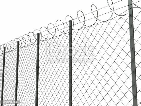 barbed wire with clip path for composition against your own background. example of composition: