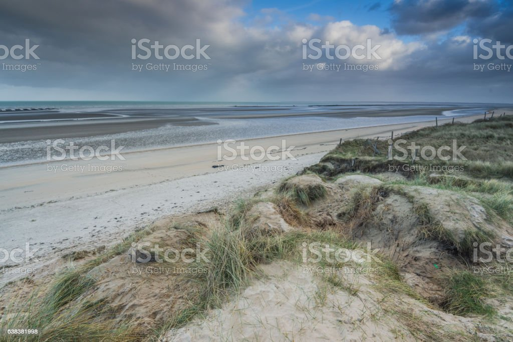 Barbed wire in Utah Bach, Normandy invasion landing site stock photo