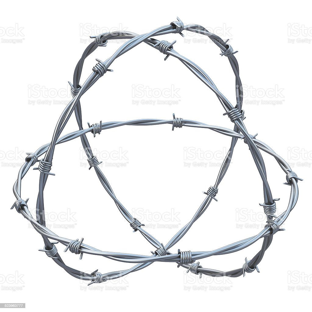 barbed wires 3d illustration stock photo