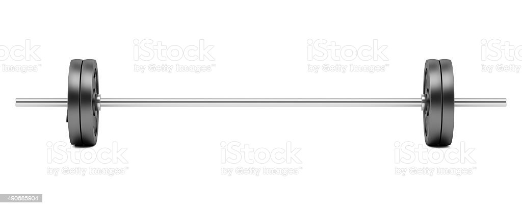 barbell isolated on white background stock photo