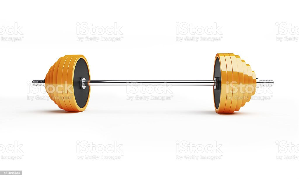 barbell royalty-free stock photo