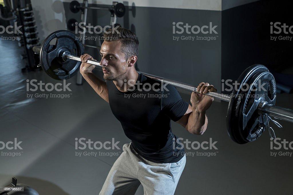 Barra para pesas Squat - Foto de stock de Actividades y técnicas de relajación libre de derechos