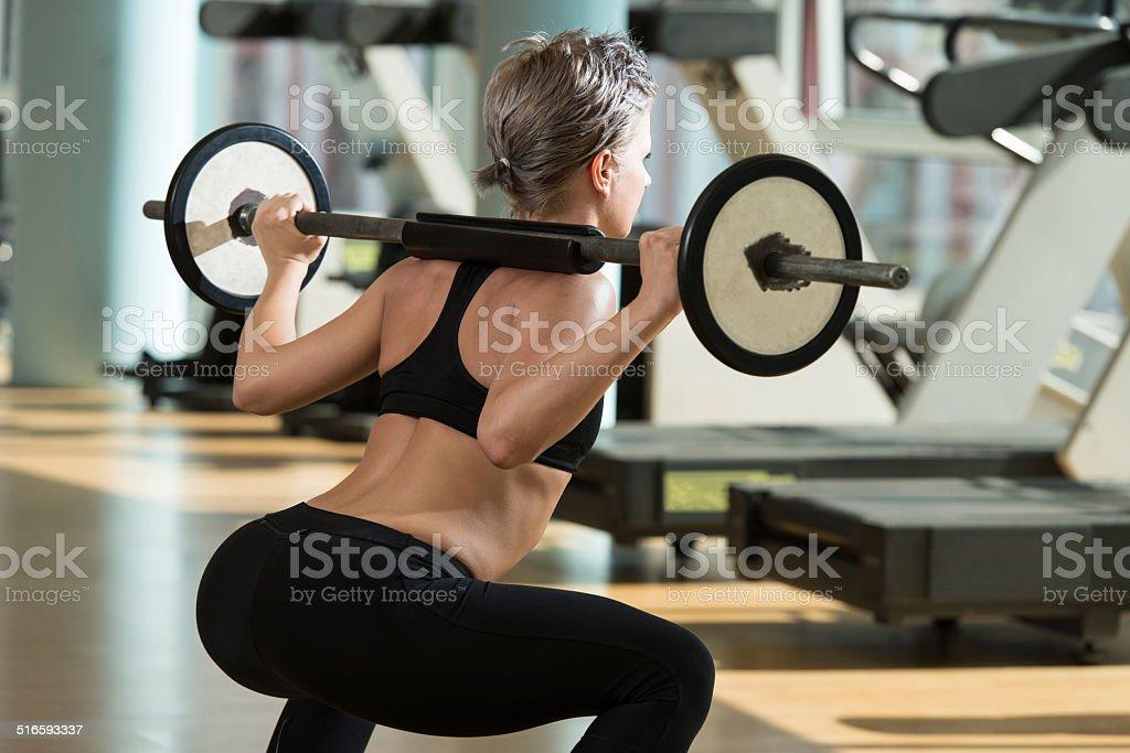 Barra para pesas Squat - Foto de stock de Barra para pesas libre de derechos
