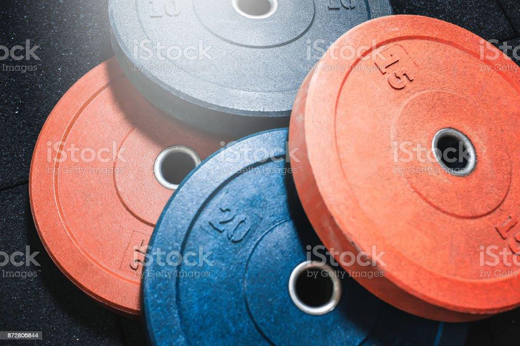 pesas de barra - foto de stock