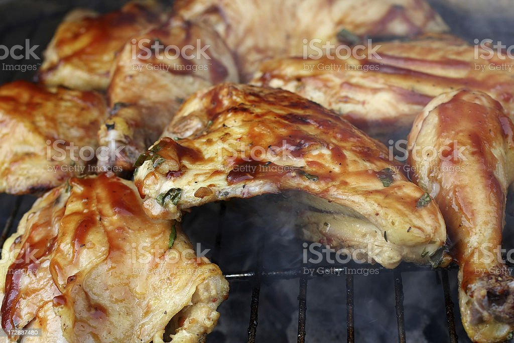 barbeque chicken royalty-free stock photo