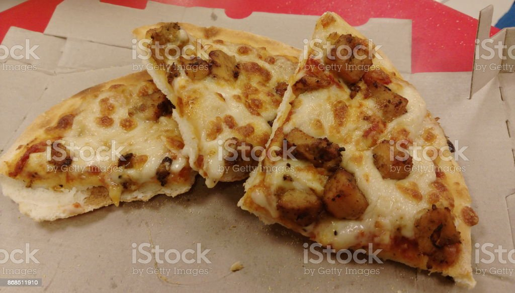 Barbeque Chicken Pizza stock photo