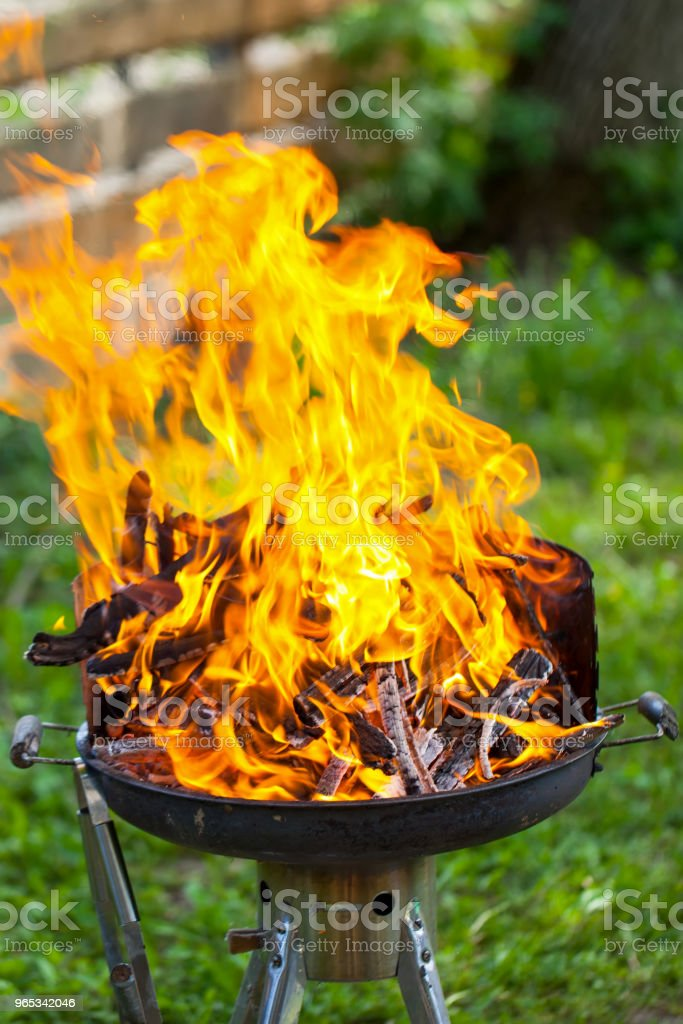 Barbeque fire royalty-free stock photo