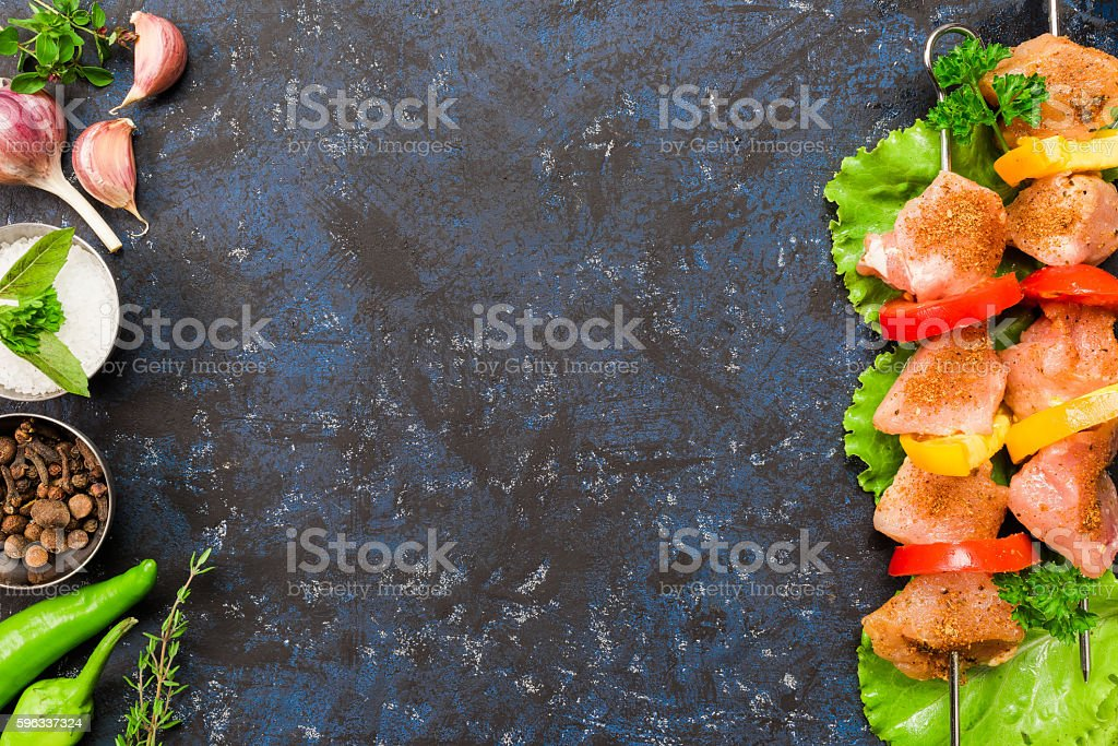 Barbeque frame on black royalty-free stock photo