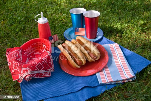470765518 istock photo Barbeque Hot Dog Picnic, Labor & Memorial Day & Fourth of July 157586338