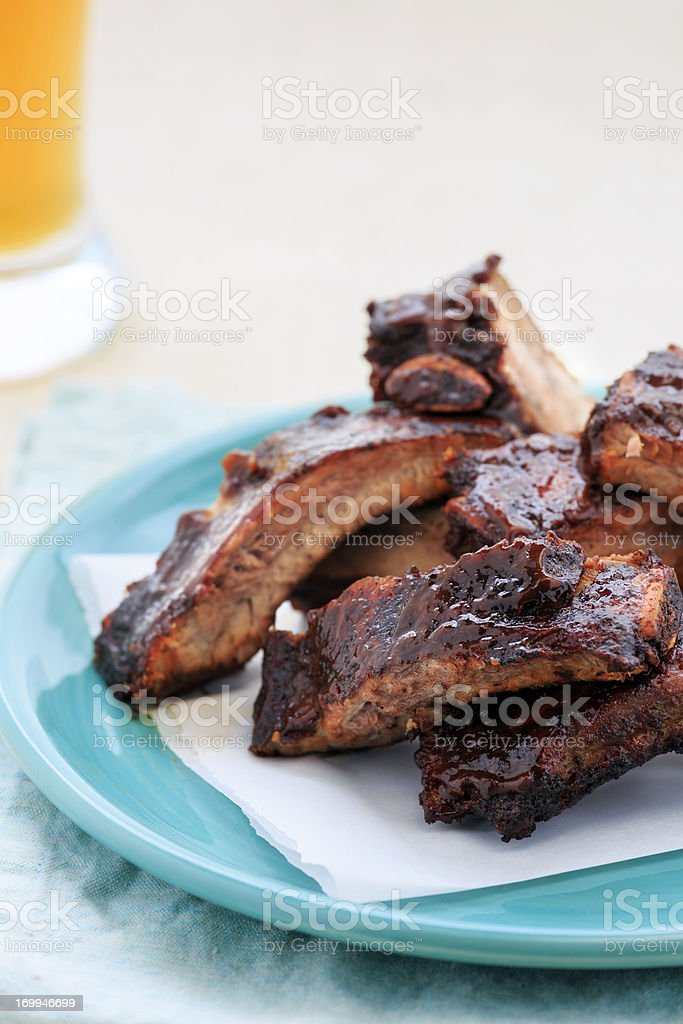 Barbeque Pork Ribs royalty-free stock photo