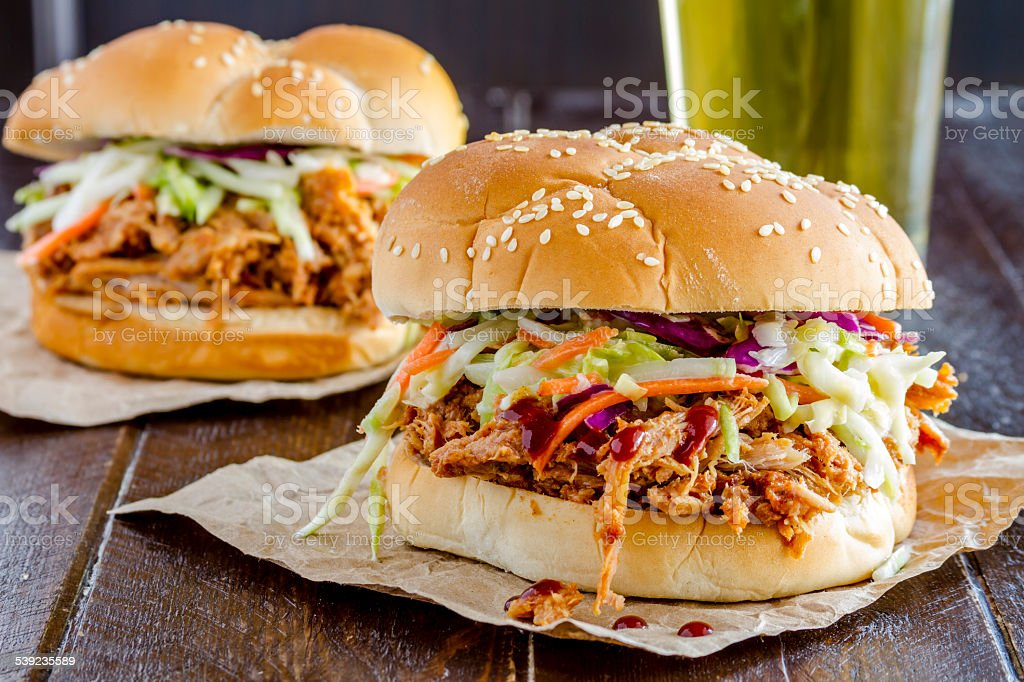 Barbeque Pulled Pork Sandwiches royalty-free stock photo