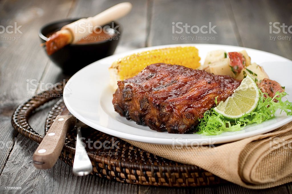 Barbeque Ribs Dinner royalty-free stock photo