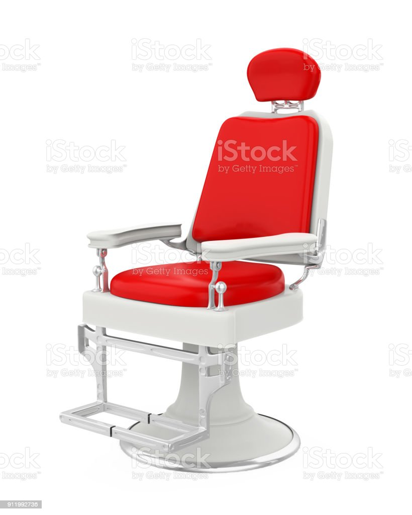 Barber Chair Isolated stock photo