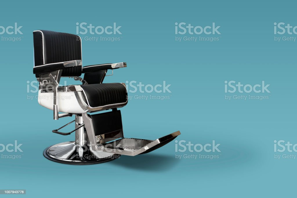 Barber chair with copy space stock photo