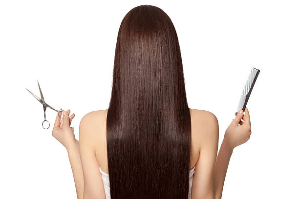 barber metapher - frisuren für schulterlanges haar stock-fotos und bilder