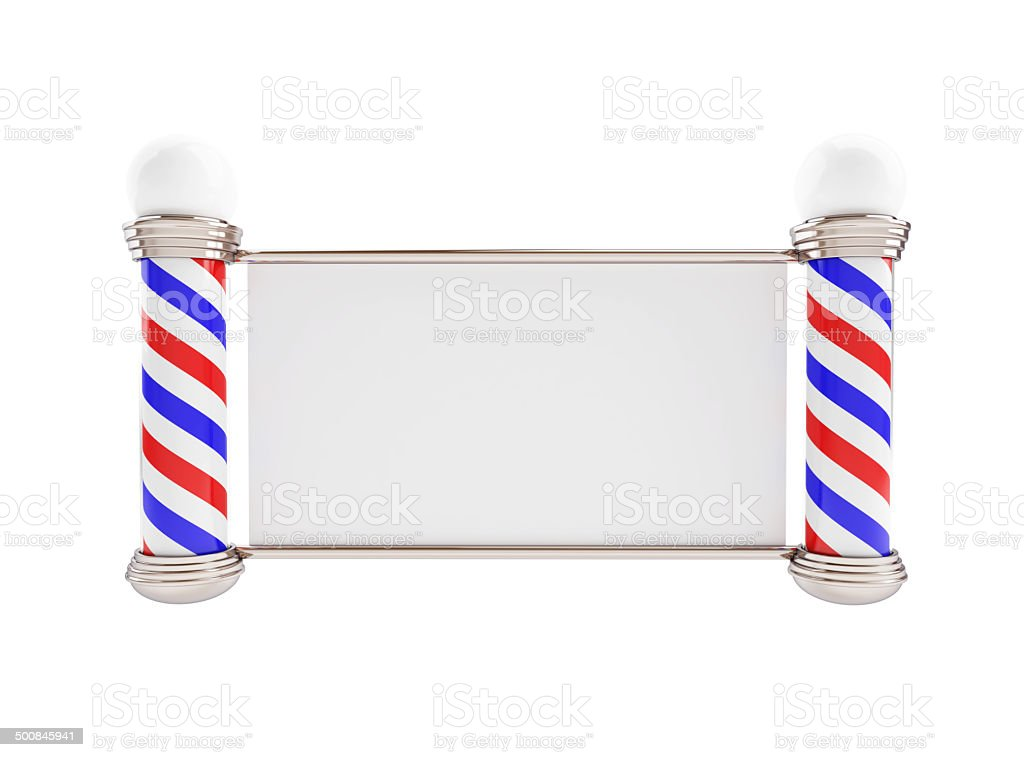 Barber Pole 3d Illustrations on a white background stock photo