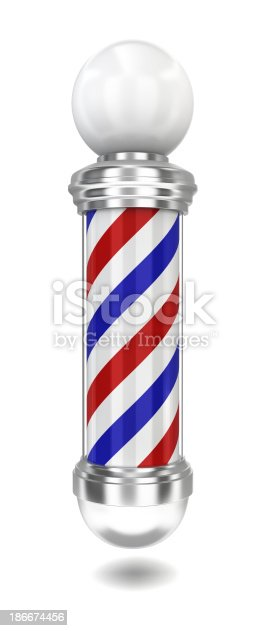 istock Barber pole 186674456