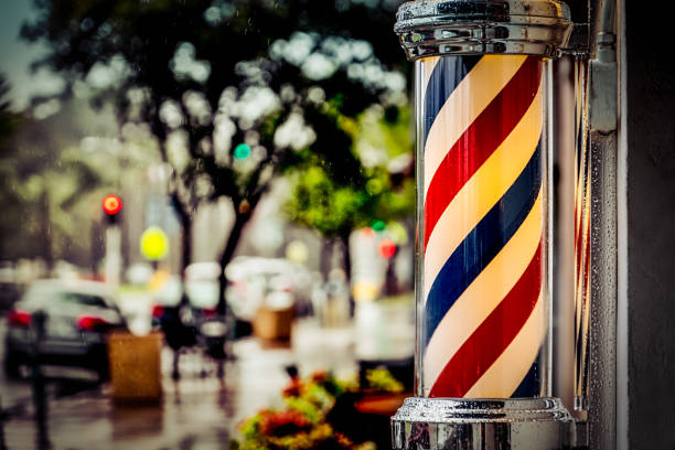 Barber Pole stock photo