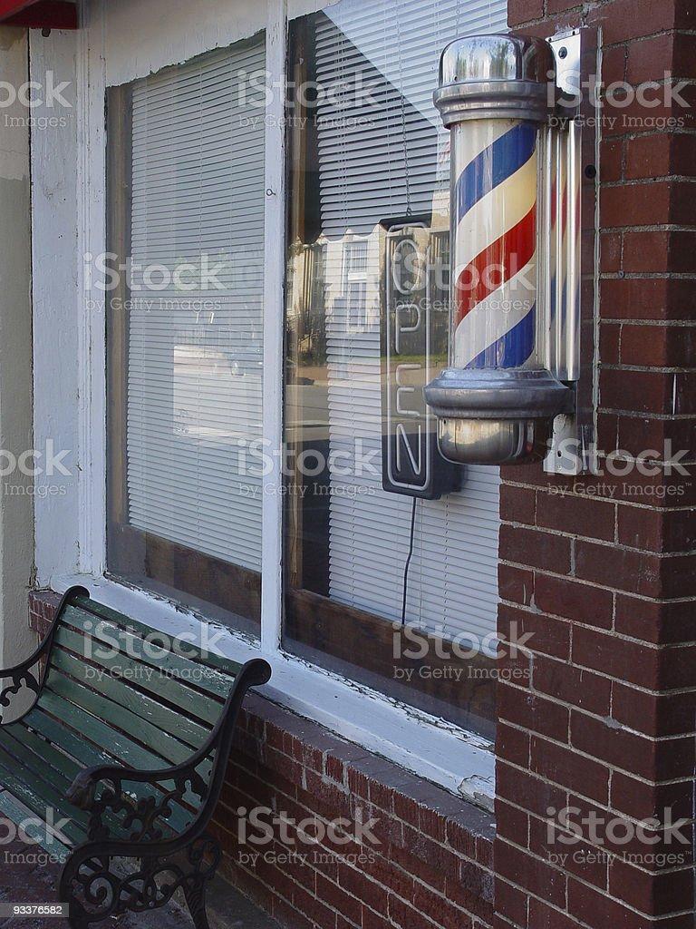 Barber Pole stock photo