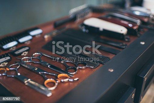 istock Barber professional equipment 826307792