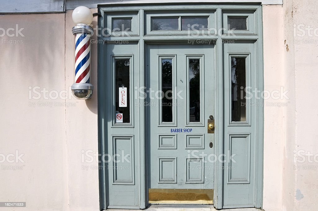 Barber shop stock photo