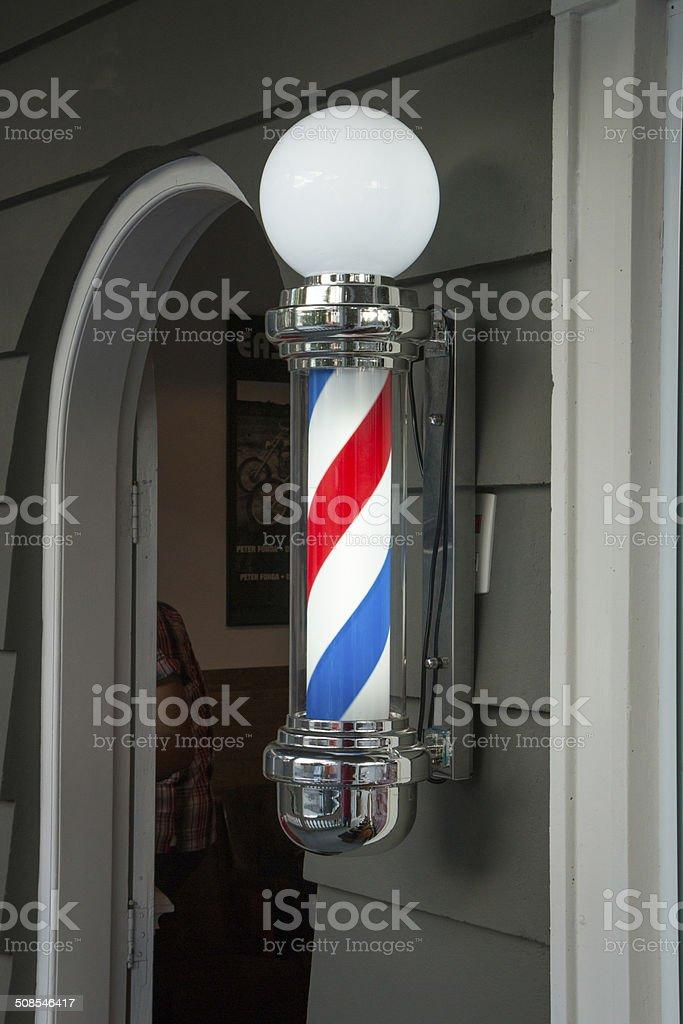 Barber shop pole stock photo