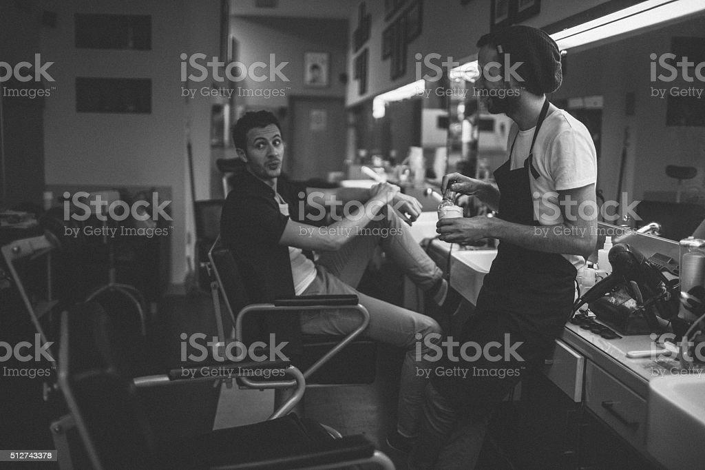 Peluquería tienda historias - foto de stock