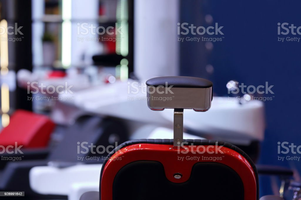 Barber shop with hairdressing chair - foto stock